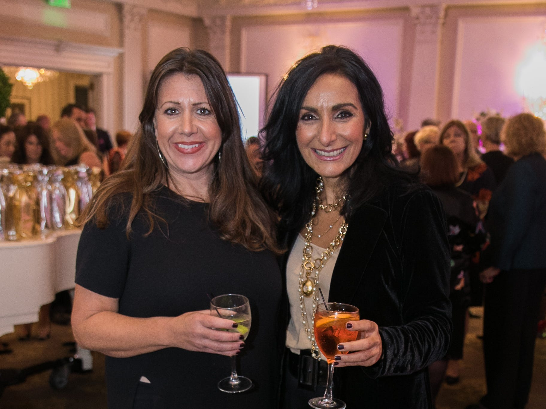 Erinn Wegman, Sonia Minetti. Bergen Family Center celebrated 120 years of service with dinner and a silent auction at Th e Rockleigh Country Club.11/1/2018
