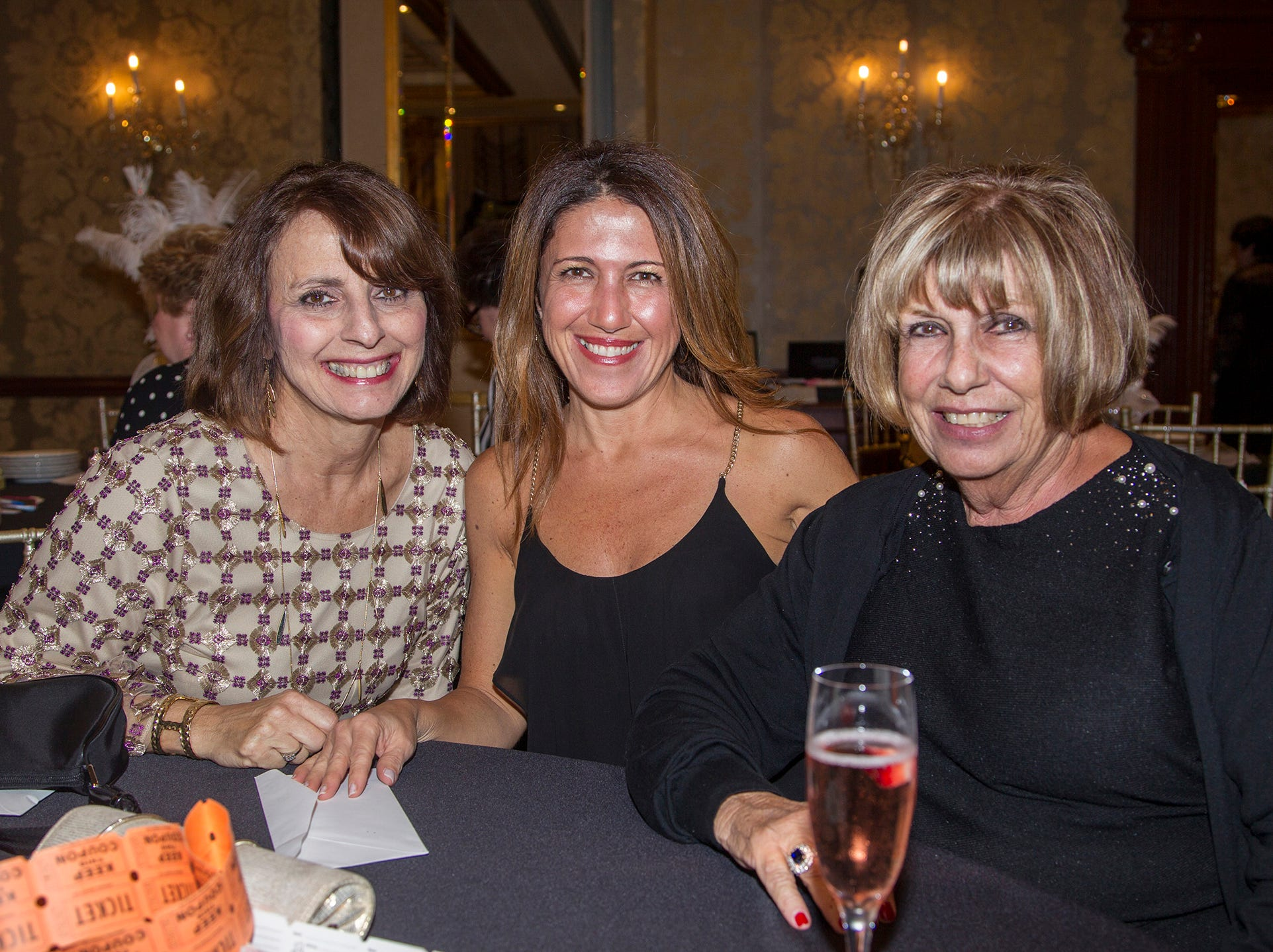 Linda Mallaney, Alexandria Gianotti, Jeanne Verrier. Saddle River Day School sponsors Ladies Night Out at Seasons in Washington Twp.  11/01/2018