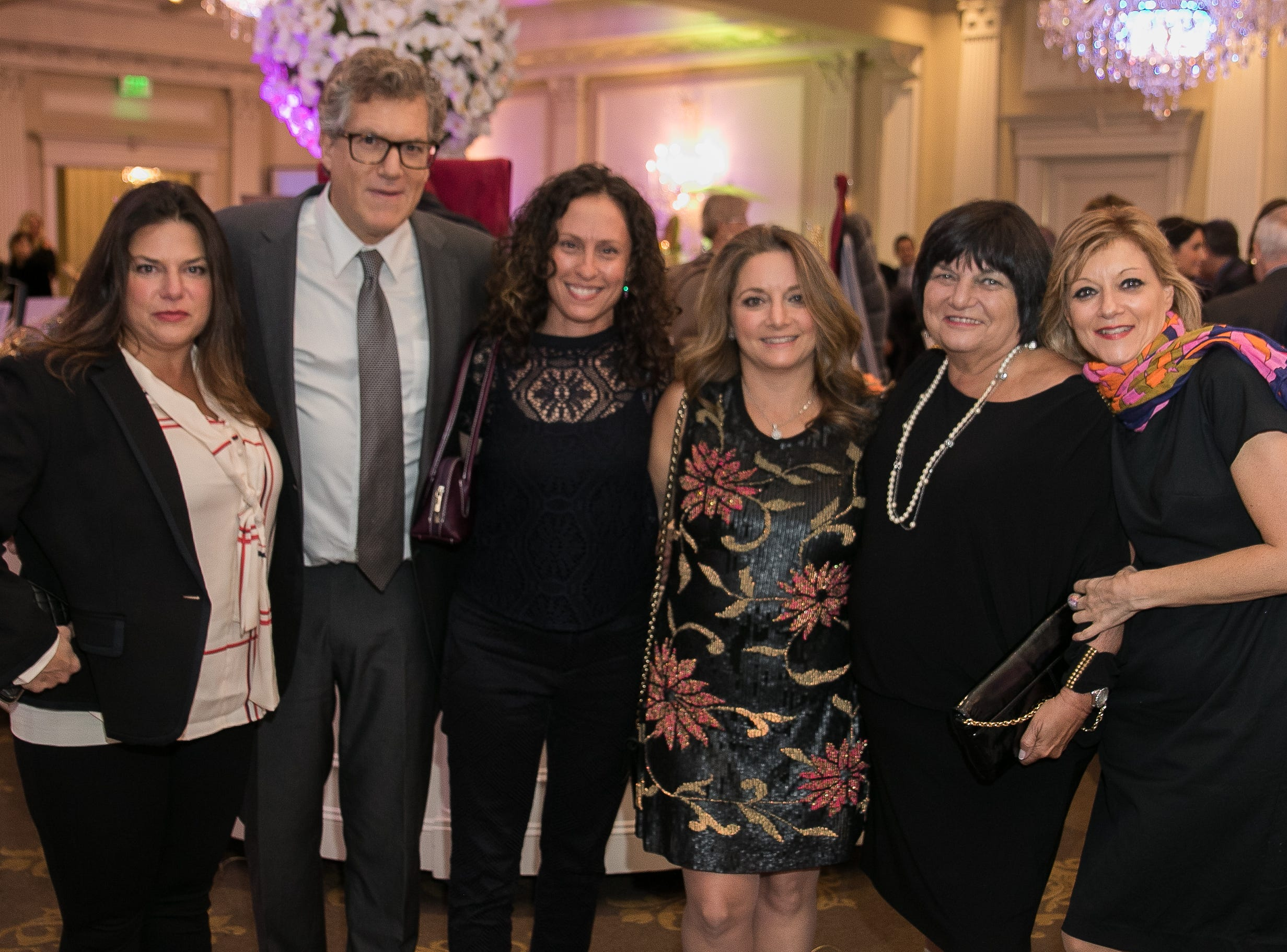 Cindy Massoff, Erez Kreitner, Stefanie Nelson, Honoree Gloria Nelson, Ellen Goldberg, Geri Meyer. Bergen Family Center celebrated 120 years of service with dinner and a silent auction at Th e Rockleigh Country Club.11/1/2018