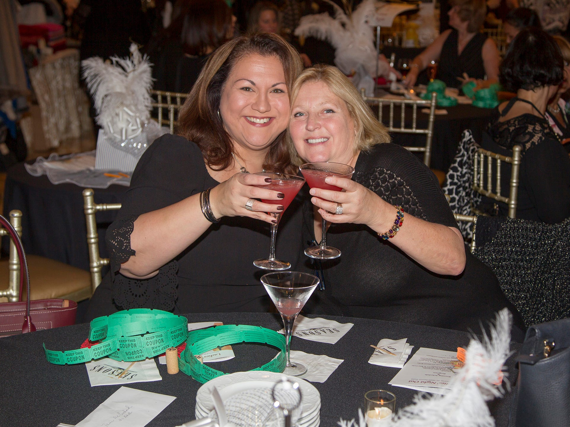 Debra Acelio, Sarah Felitti-Powell. Saddle River Day School sponsors Ladies Night Out at Seasons in Washington Twp.  11/01/2018