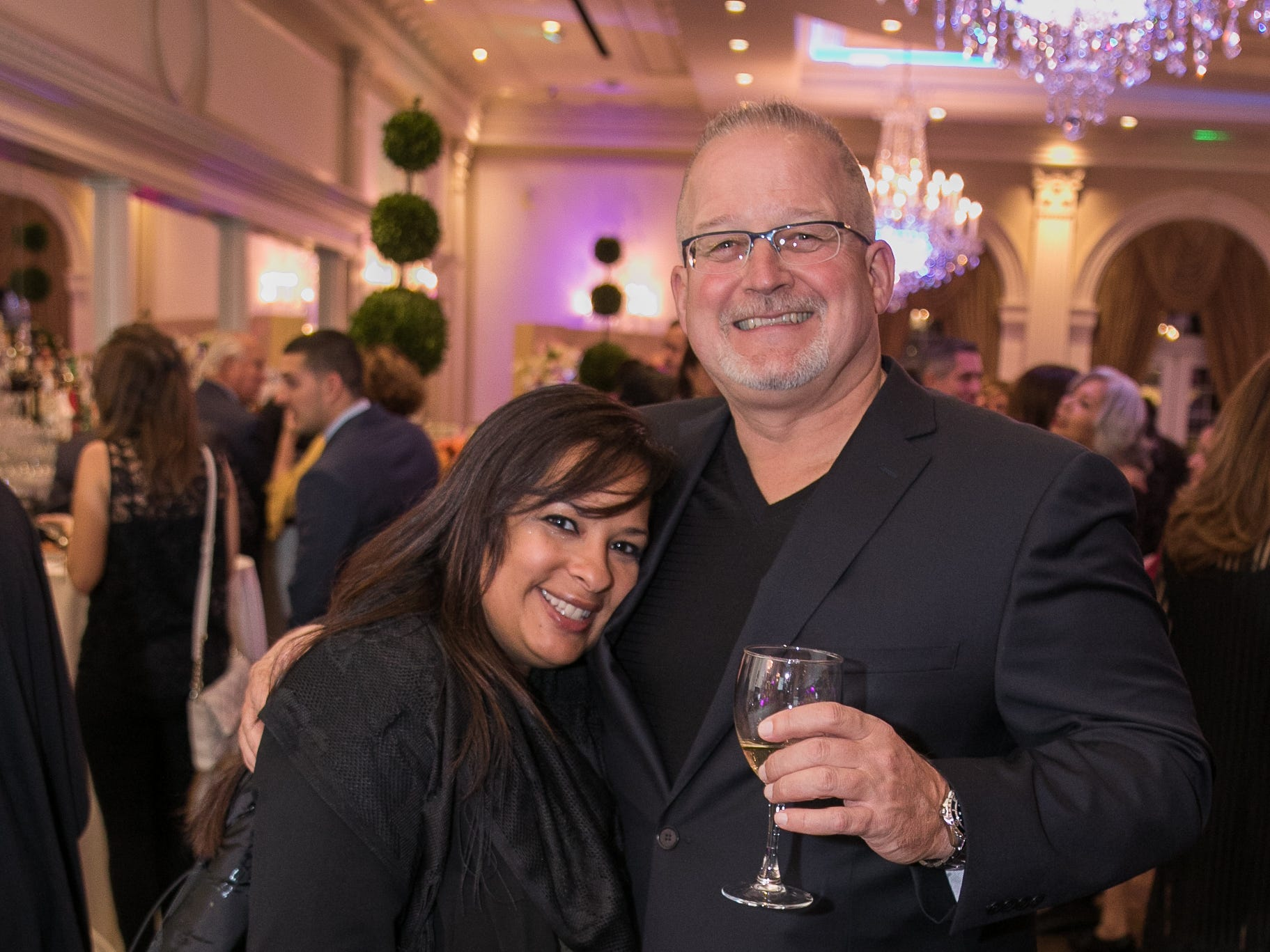 Jenny Pena, Art Mantell. Bergen Family Center celebrated 120 years of service with dinner and a silent auction at Th e Rockleigh Country Club.11/1/2018