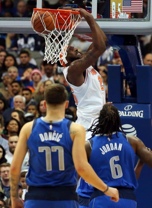 Aptopix Knicks Mavericks Basketball
