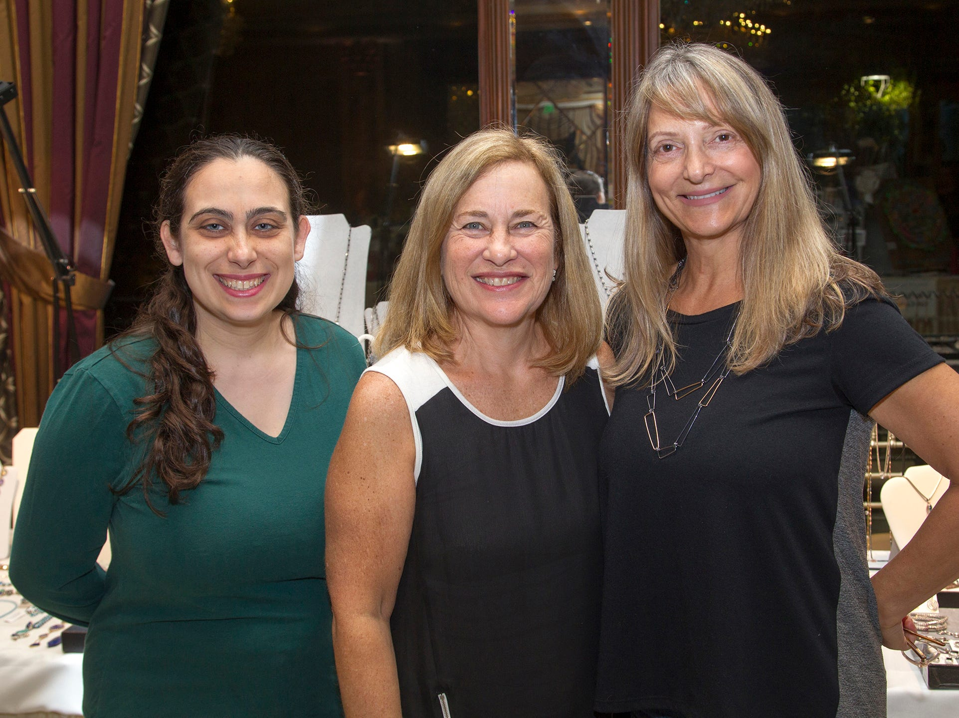Caren Shapiro, Alexis Diaz, Noralyn Carroll of Earthly Treasures. Saddle River Day School sponsors Ladies Night Out at Seasons in Washington Twp.  11/01/2018
