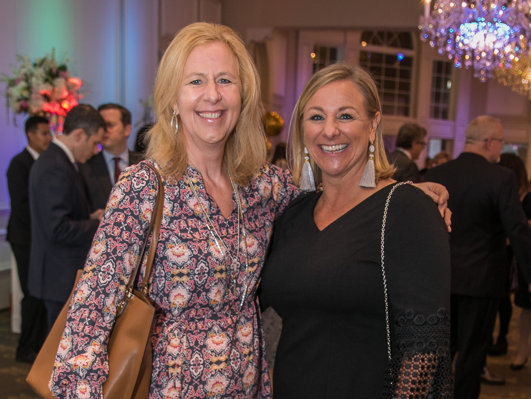 Mary Lynch, Chrissy Croonquist. Bergen Family Center celebrated 120 years of service with dinner and a silent auction at Th e Rockleigh Country Club.11/1/2018