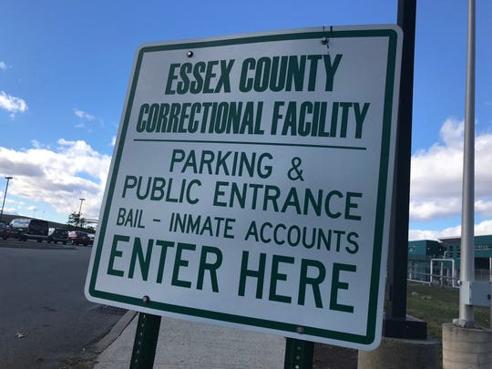 A sign outside the Essex County Correctional Facility