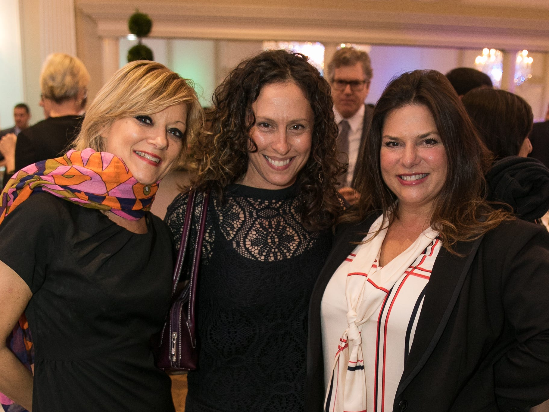 Geri Meyer, Stefanie Nelson,  Cindy Massoff.Bergen Family Center celebrated 120 years of service with dinner and a silent auction at Th e Rockleigh Country Club.11/1/2018