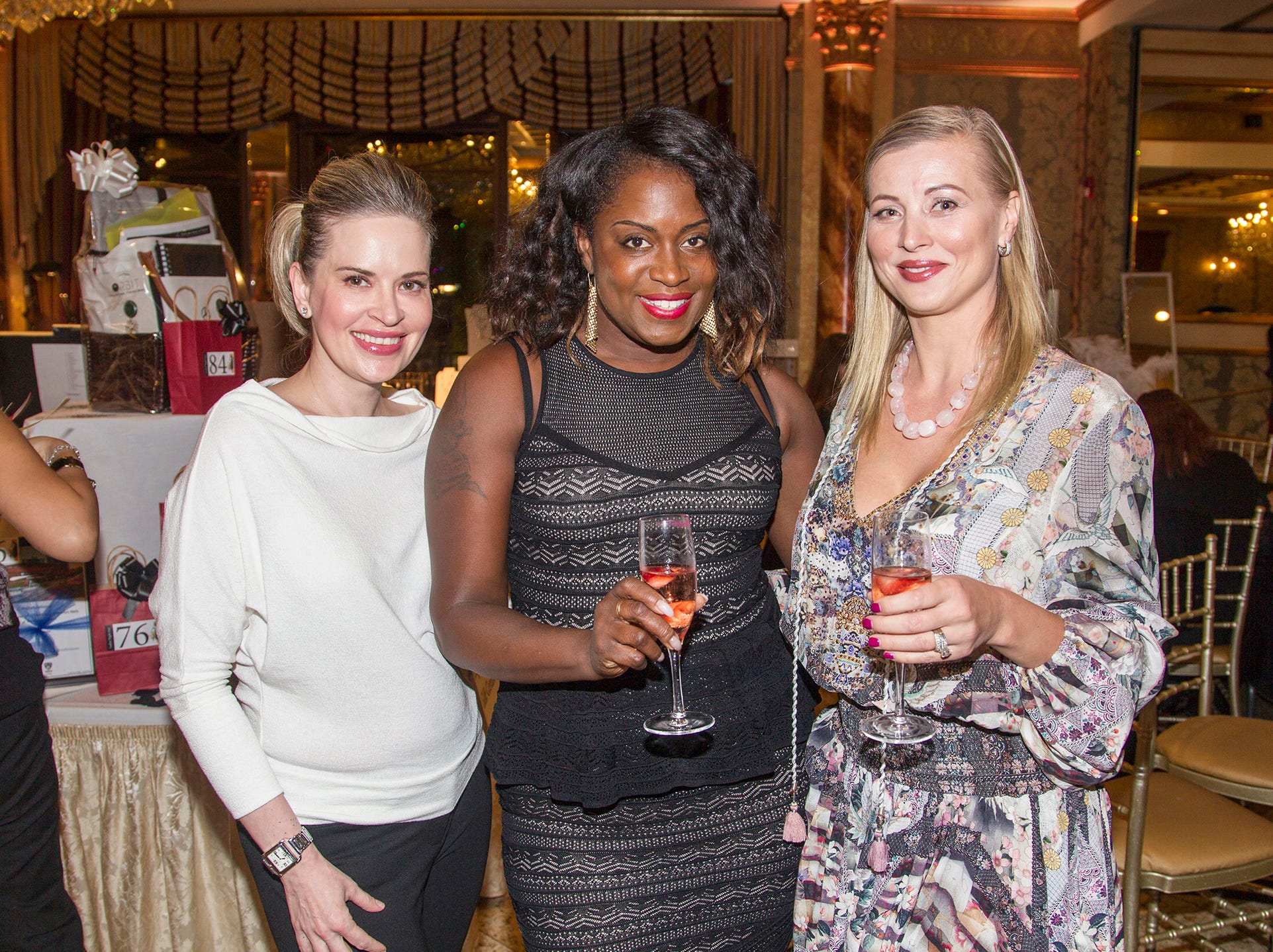 Nicole Gnudi, Merylin Mitchell, Beata Savreski. Saddle River Day School sponsors Ladies Night Out at Seasons in Washington Twp.  11/01/2018