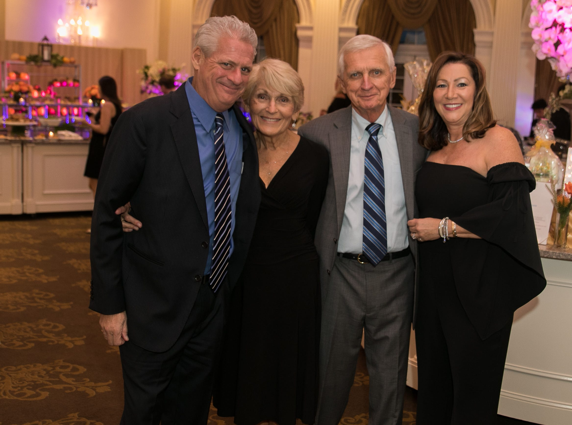 Chris Plecky, Barbara Pelcky, Tom Napiorski, Francesca Padilla. Bergen Family Center celebrated 120 years of service with dinner and a silent auction at Th e Rockleigh Country Club.11/1/2018