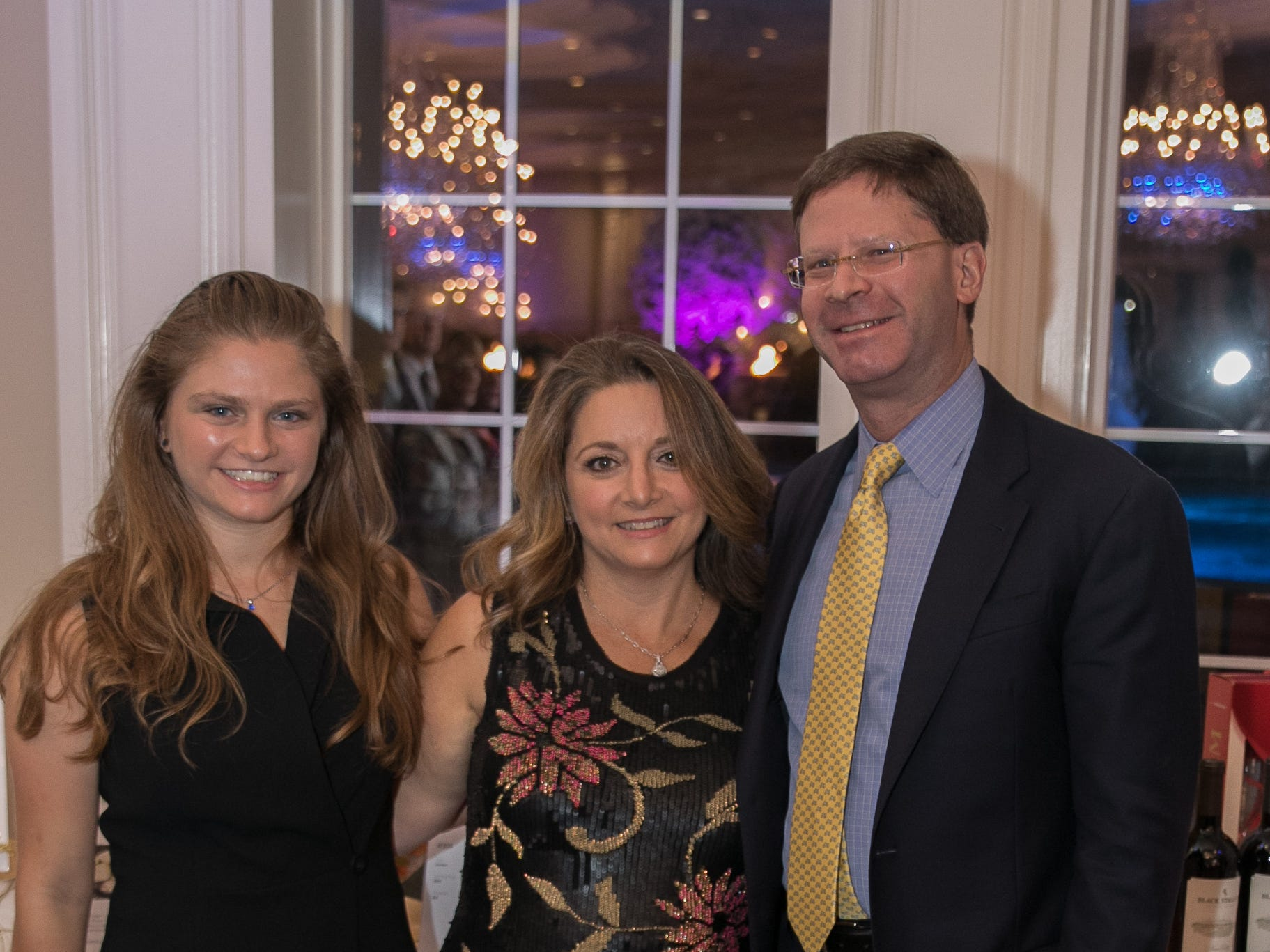 Honoree Gloria Nelson with her daughter Alexandra and husband Edward. Bergen Family Center celebrated 120 years of service with dinner and a silent auction at Th e Rockleigh Country Club.11/1/2018