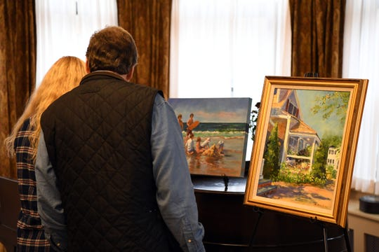 An art show at Villa Marie Claire featuring the work of Marianne Fischer, 88, a patient at Villa Marie Claire in Saddle River on Saturday, November 3, 2018.