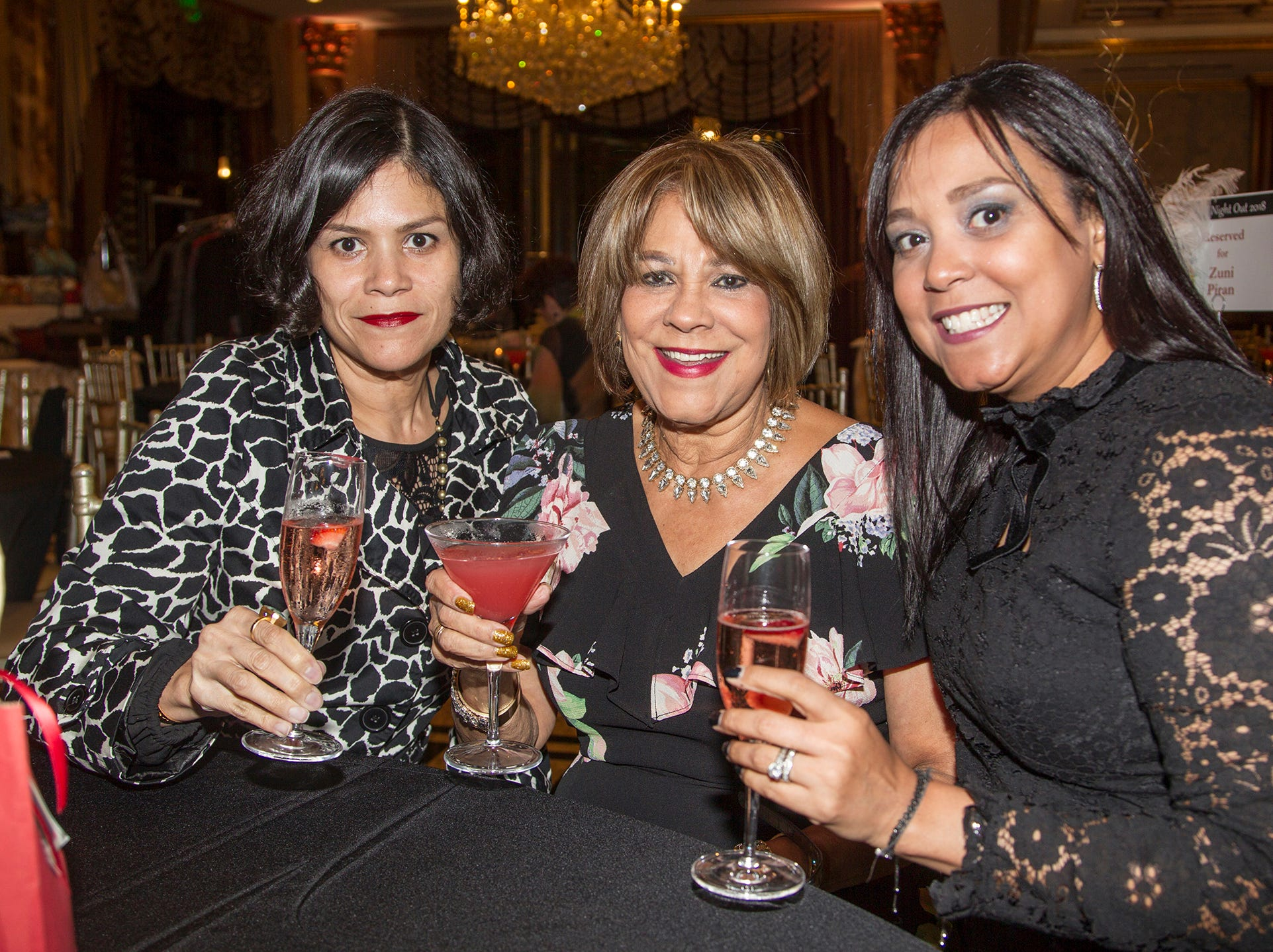 Zuni Piran, Zuna Guzman, Patricia Storzollo. Saddle River Day School sponsors Ladies Night Out at Seasons in Washington Twp.  11/01/2018