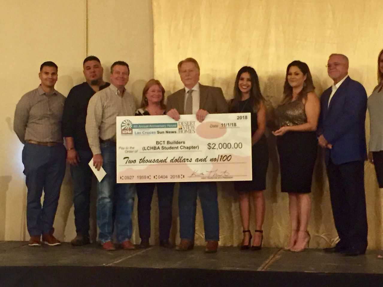 BCT Builders (LCHBA student chapter), $2,000