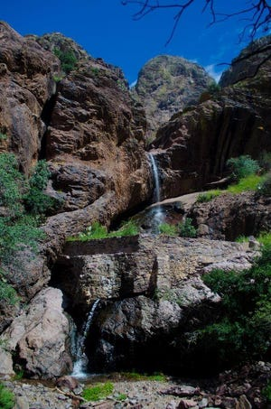 A hike on Dripping Springs Trail may yield a scenic photo opportunity like this one.
