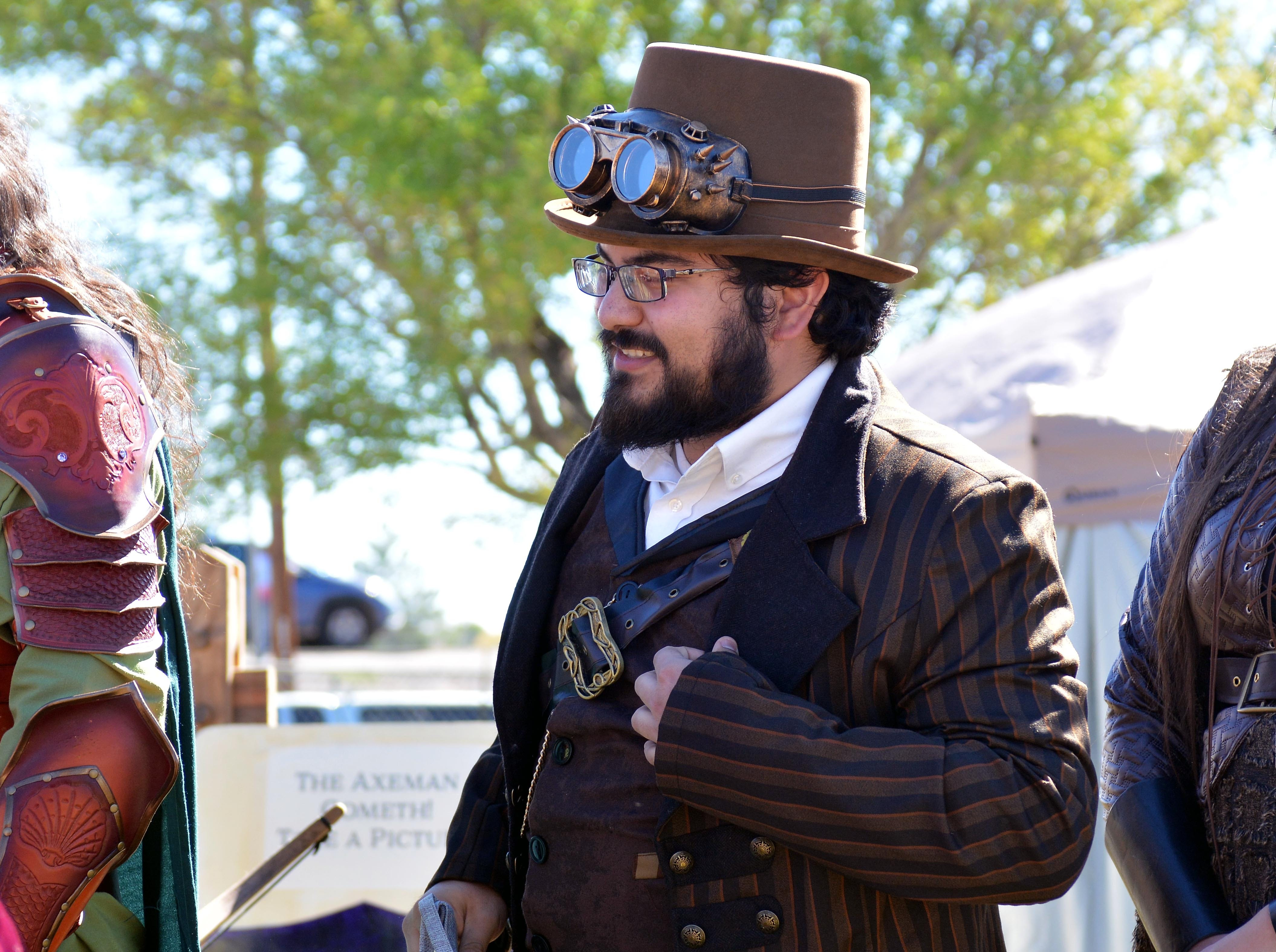 """This costume won for the """"Most Fanciful"""" at this year's Faire.  Photo taken 11/3/18."""