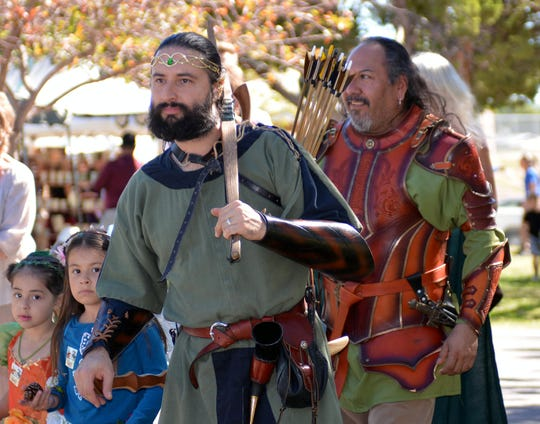 Visitors at the Rennaisance Faire come dressed in the clothes worn by those centuries ago.