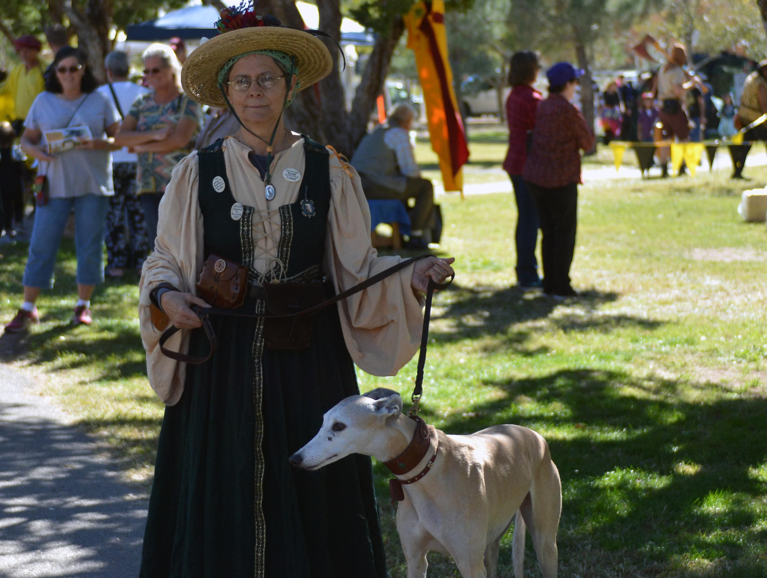 Visitors at the Faire enjoy dressing up in their favorite costumes. Photo taken 11/3/18.