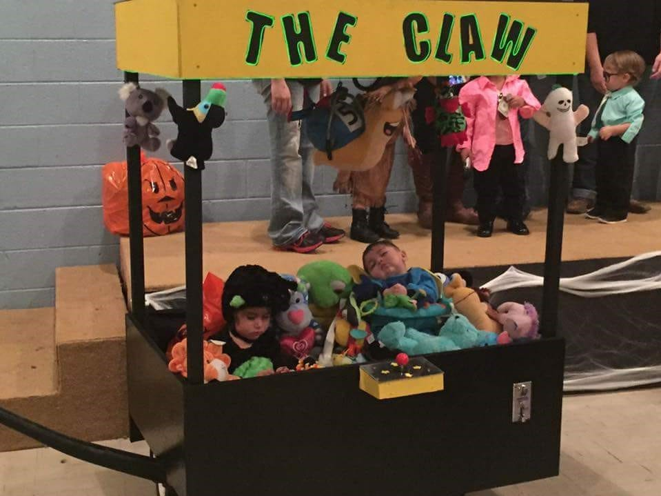 One year, JerseyJo and her brother Jermaine Martinez went as a crane game for Halloween.