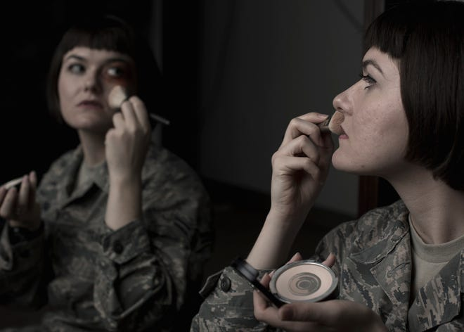 The month of October is Domestic Violence Awareness Month. Domestic violence does not discriminate; anyone can be a victim. For more information, visit the National Domestic Violence Hotline website at www.thehotline.org. (U.S. Air Force photo illustration by Staff Sgt. BreeAnn Sachs)