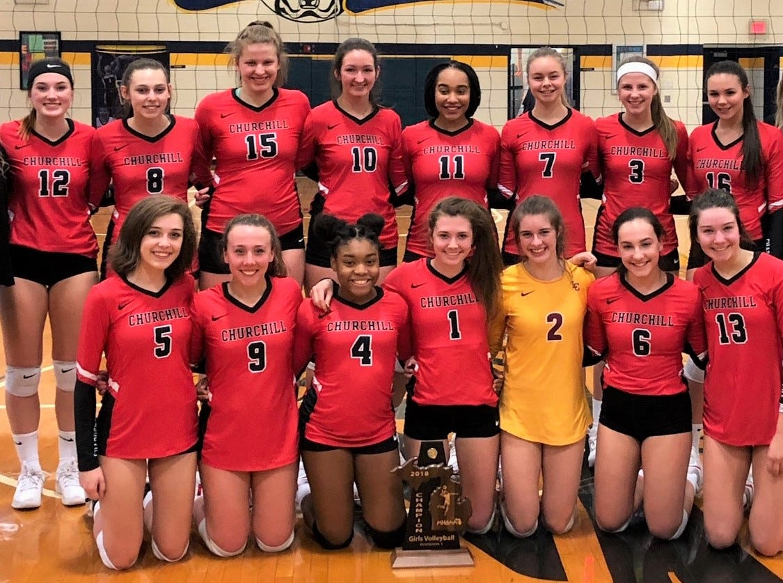 District volleyball scoreboard: Churchill stops Patriots for district crown