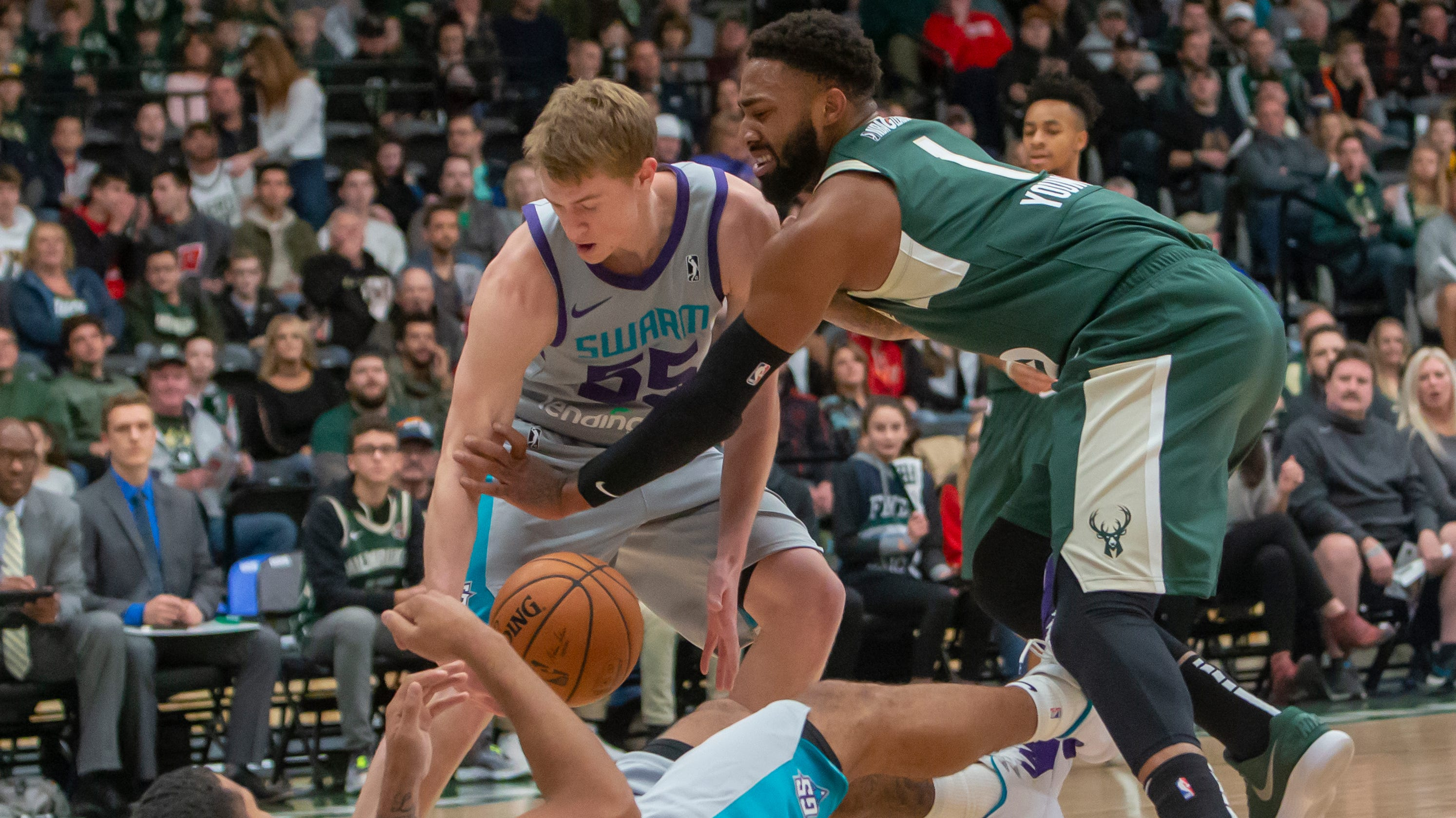 b954548e6246 Xavier s J.P. Macura returns to NBA s Charlotte Hornets from G League s  Greensboro Swarm