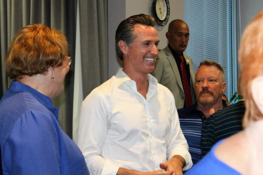 Lt. Governor Gavin Newsom rally