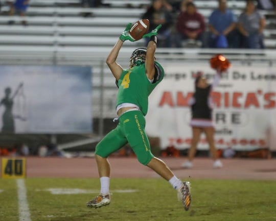 Angelo Fitzgerald scores a touchdown on the first series of the game for Coachella Valley against Chaffey, November 2, 2018.