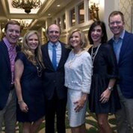 Jerry Pate (center) with his family, left to right, son Jamie, daughter Jenni, wife, Soozi,  daughter-in-law Courtney, son Wesley.