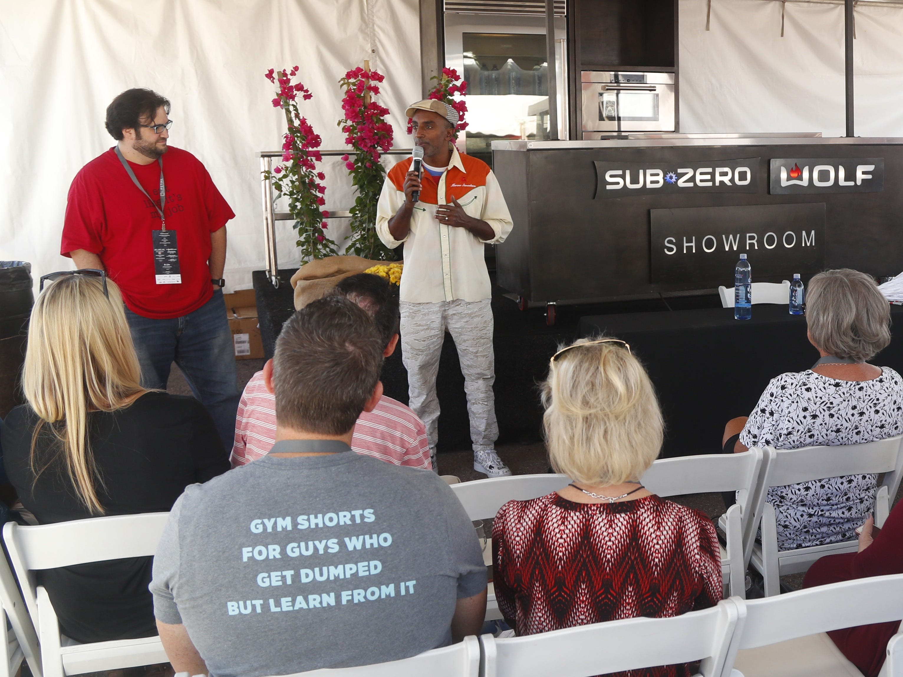 VIPs gather to hear Marcus Samuelsson talk during the azcentral Wine & Food Experience at WestWorld of Scottsdale on Nov. 3, 2018.