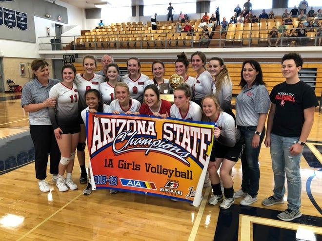 Mogollon won the 1A volleyball state championship on Saturday, Nov. 3.