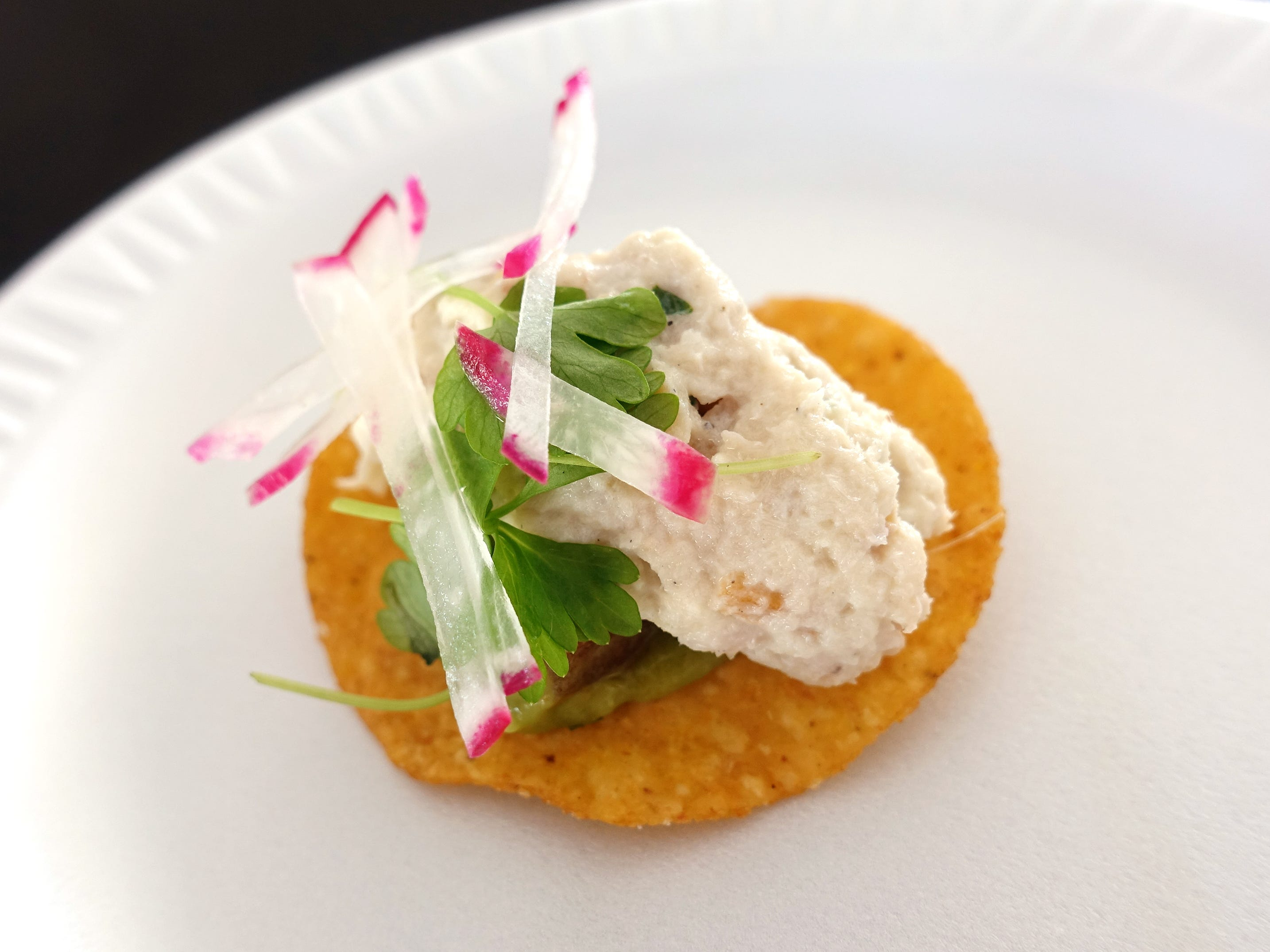 Smoked trout rillettes tostada with avocado from Wright's at The Biltmore at azcentral Wine & Food Experience at WestWorld of Scottsdale Saturday, Nov. 3, 2018.