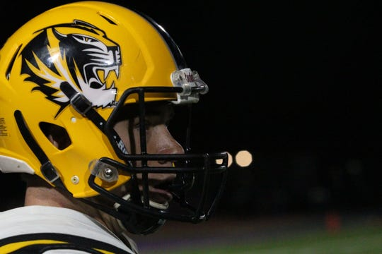 Gilbert's Will Plummer looks up the field between plays against Notre Dame on Friday night at Notre Dame Preparatory High School on Nov. 2, 2018.