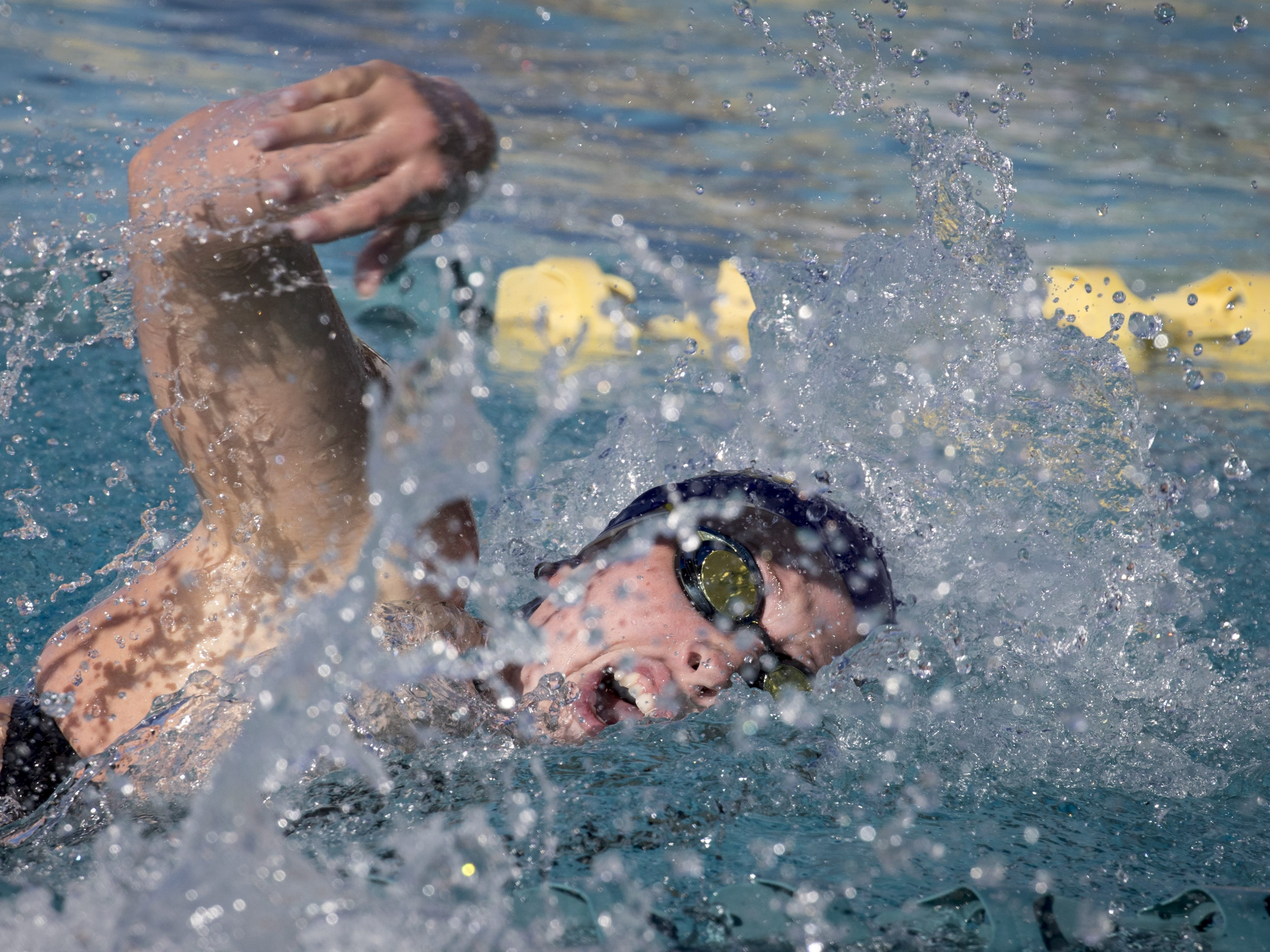 Ellice Richman (Sunrise Mountain) swims the 200 Freestyle, November 3, 2018, during the AIA Division II state swimming finals at the Skyline Aquatic Center, Mesa. Richman won the event.