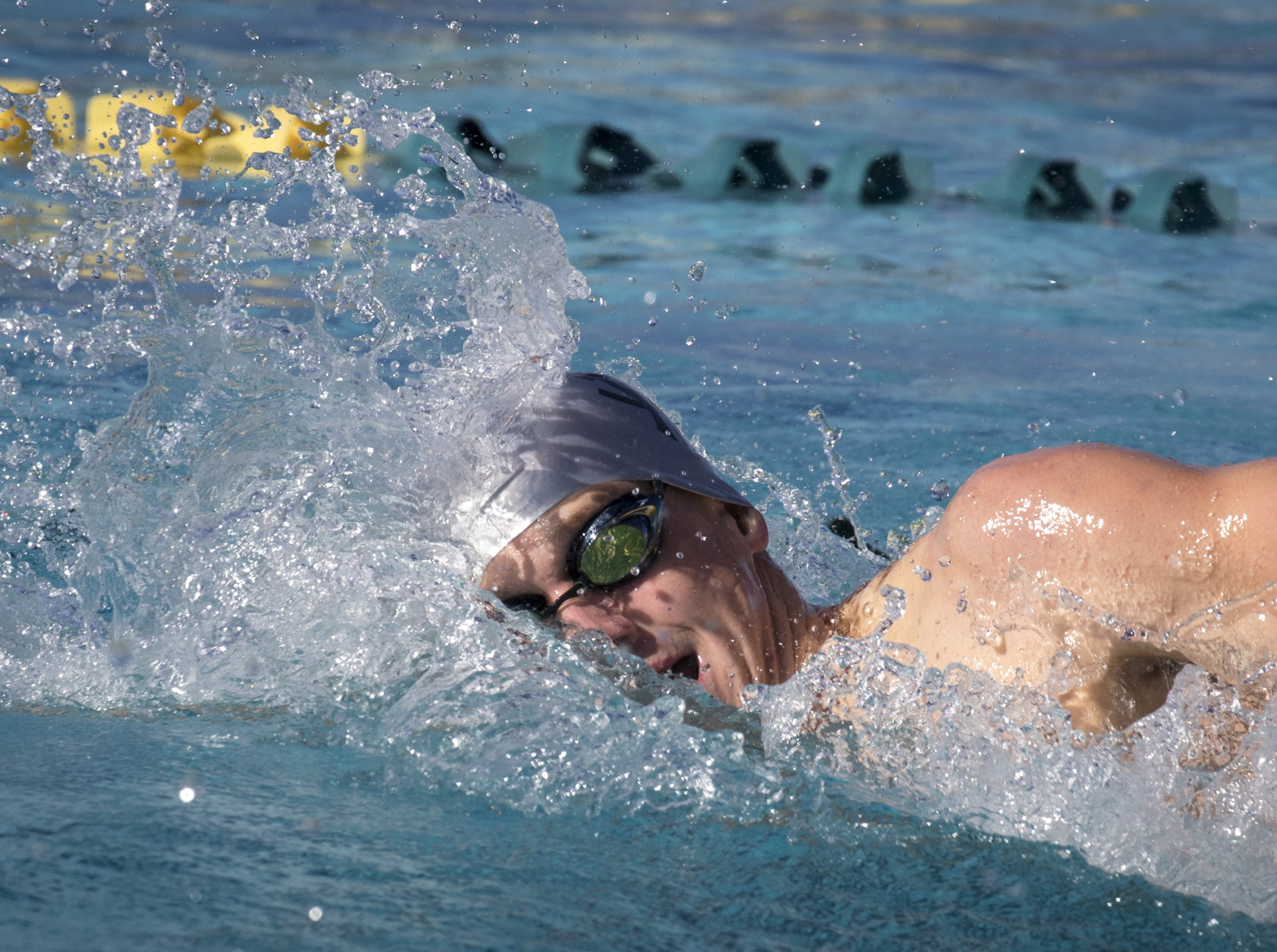 Scott Pekarske (Catalina Foothills) swims the 200 Freestyle, November 3, 2018, during the AIA Division II state swimming finals at the Skyline Aquatic Center, Mesa. Pekarske won the event.