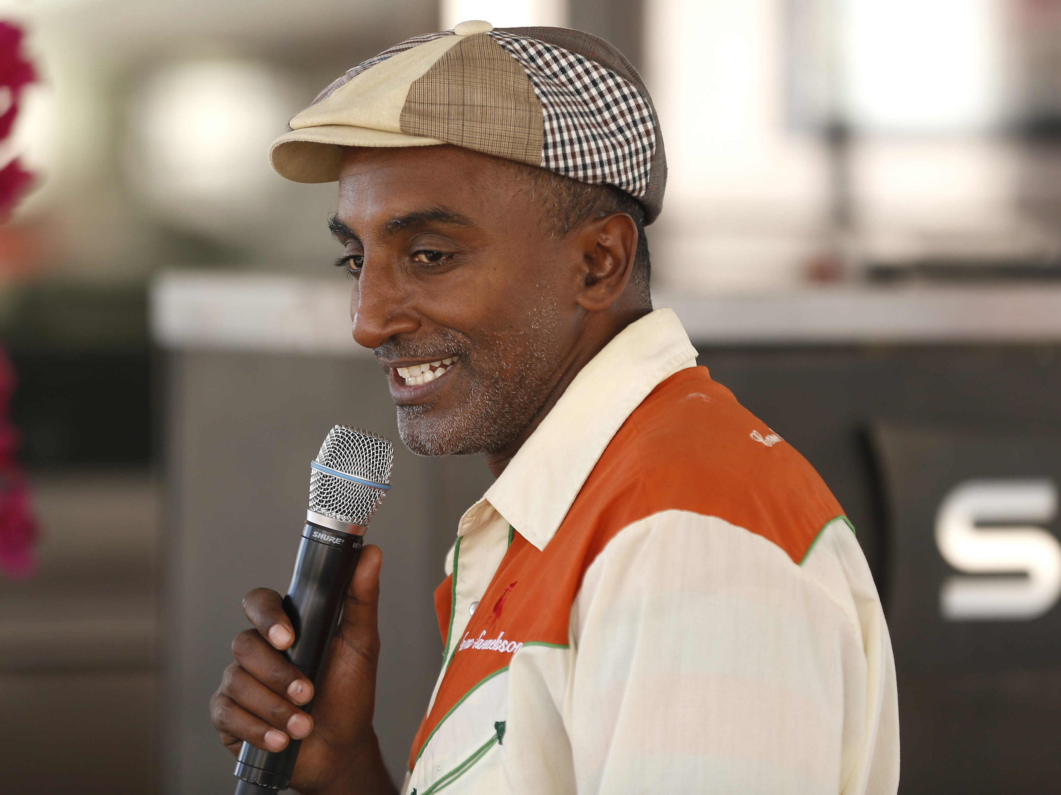 Chef Marcus Samuelsson talks with VIP guests during the azcentral Wine & Food Experience at WestWorld of Scottsdale on Nov. 3, 2018.