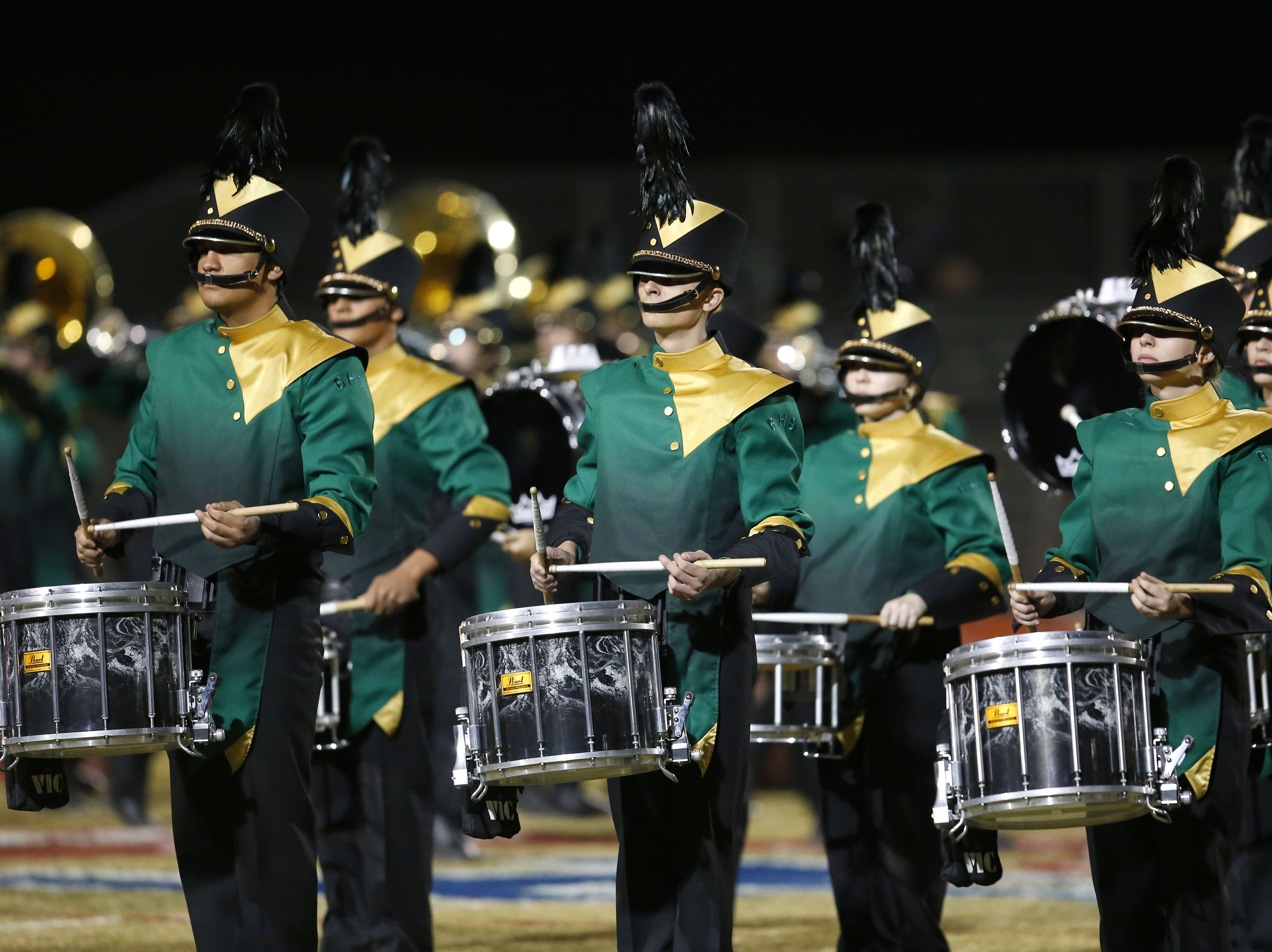Basha's band during a football game at Perry High School on November 2. #azhsfb