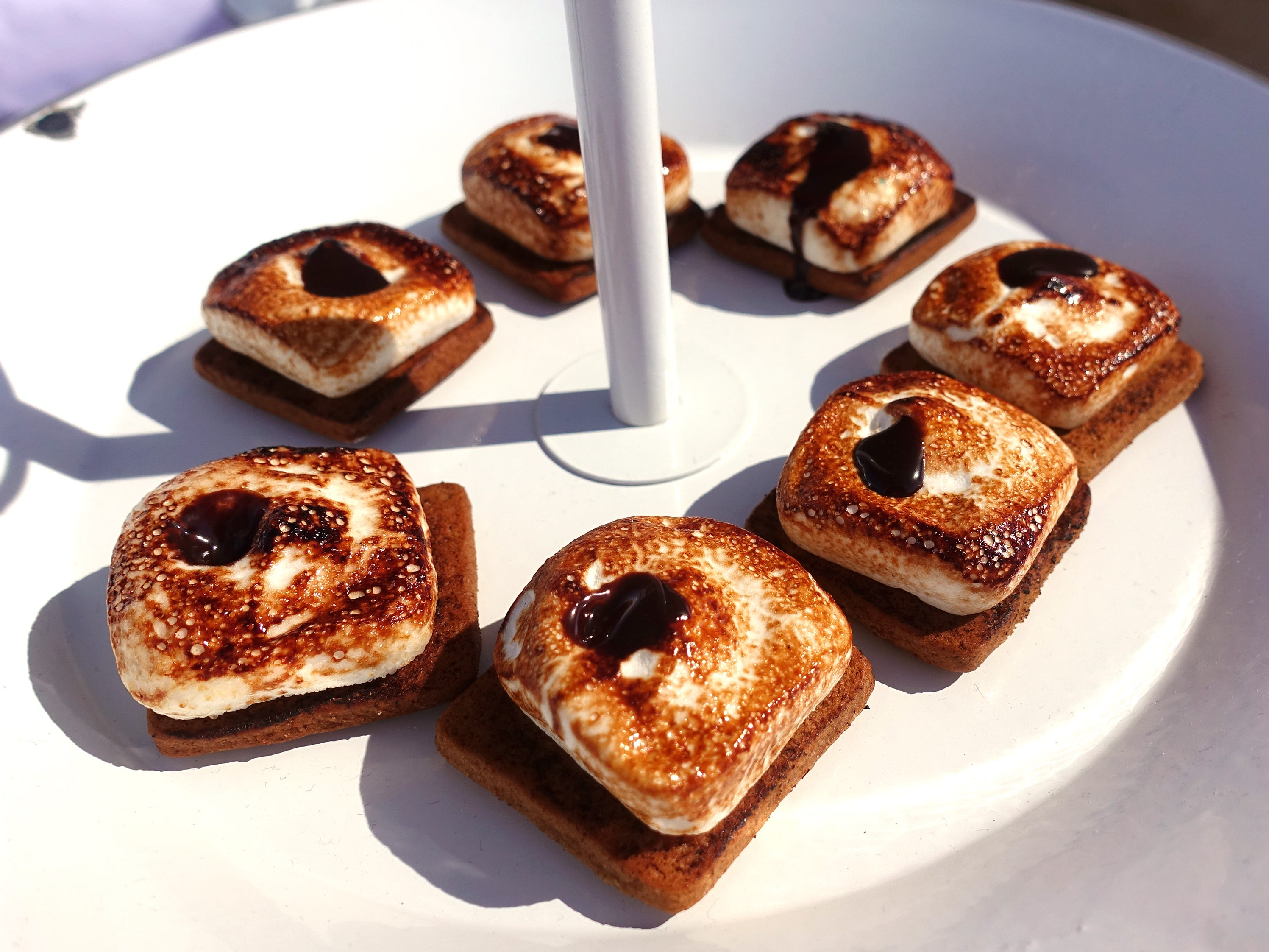 Toasted marshmallow with chocolate sauce and house graham cracker from Toasted Mallow at azcentral Wine & Food Experience 2018 at WestWorld of Scottsdale, Saturday, Nov. 3, 2018.