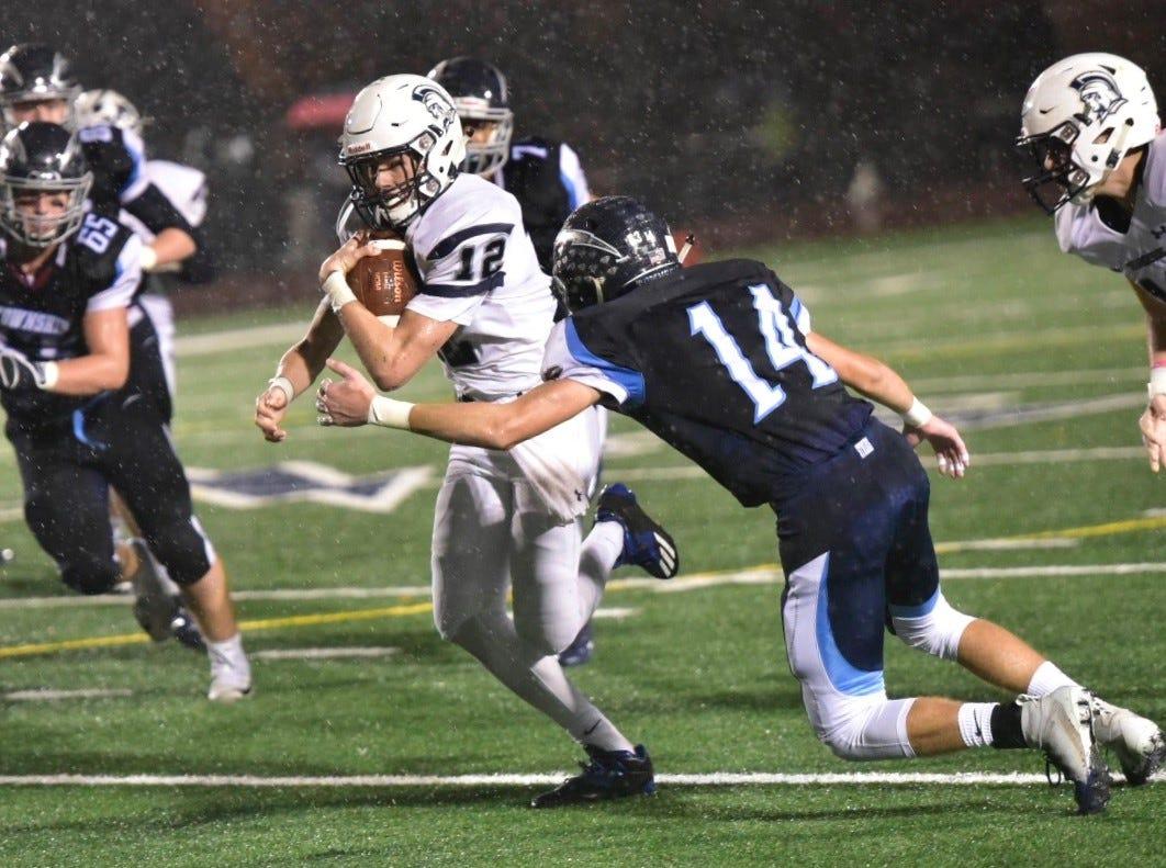 Chambersburg football season ends in rain-filled playoff loss at Manheim Township