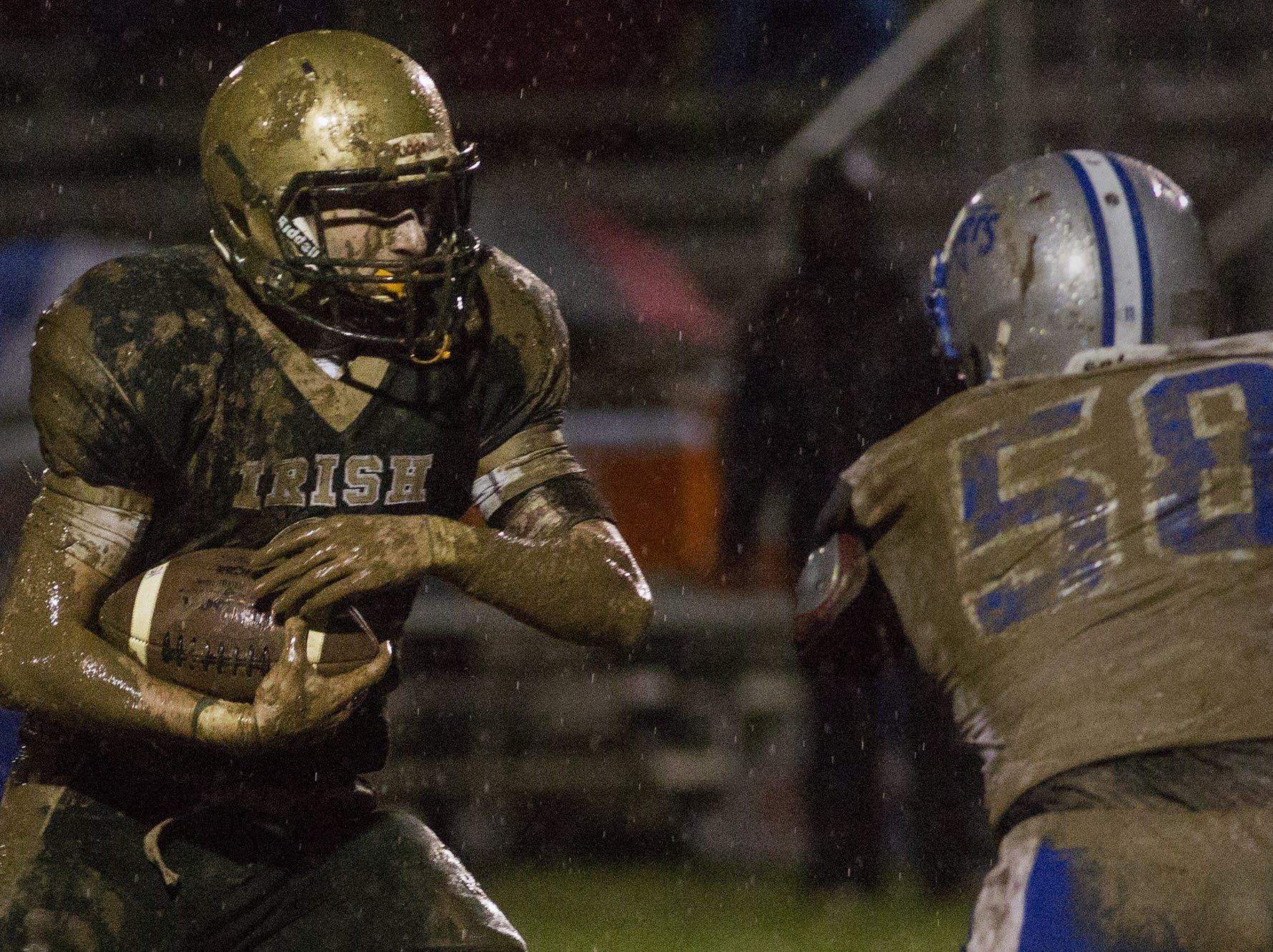 York Catholic defense thrives in the muck, silences Steel-High in District 3 Class 2A semi