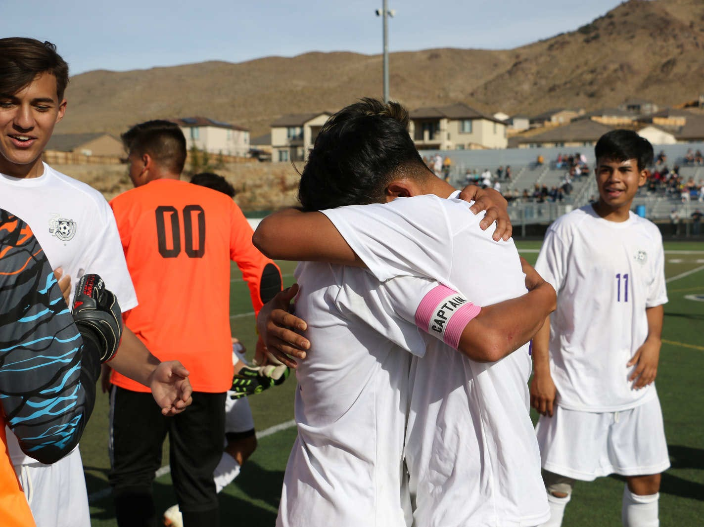 Spanish Springs defeats Galena during their regional final soccer game at Damonte Ranch in Reno on Nov. 3, 2018.