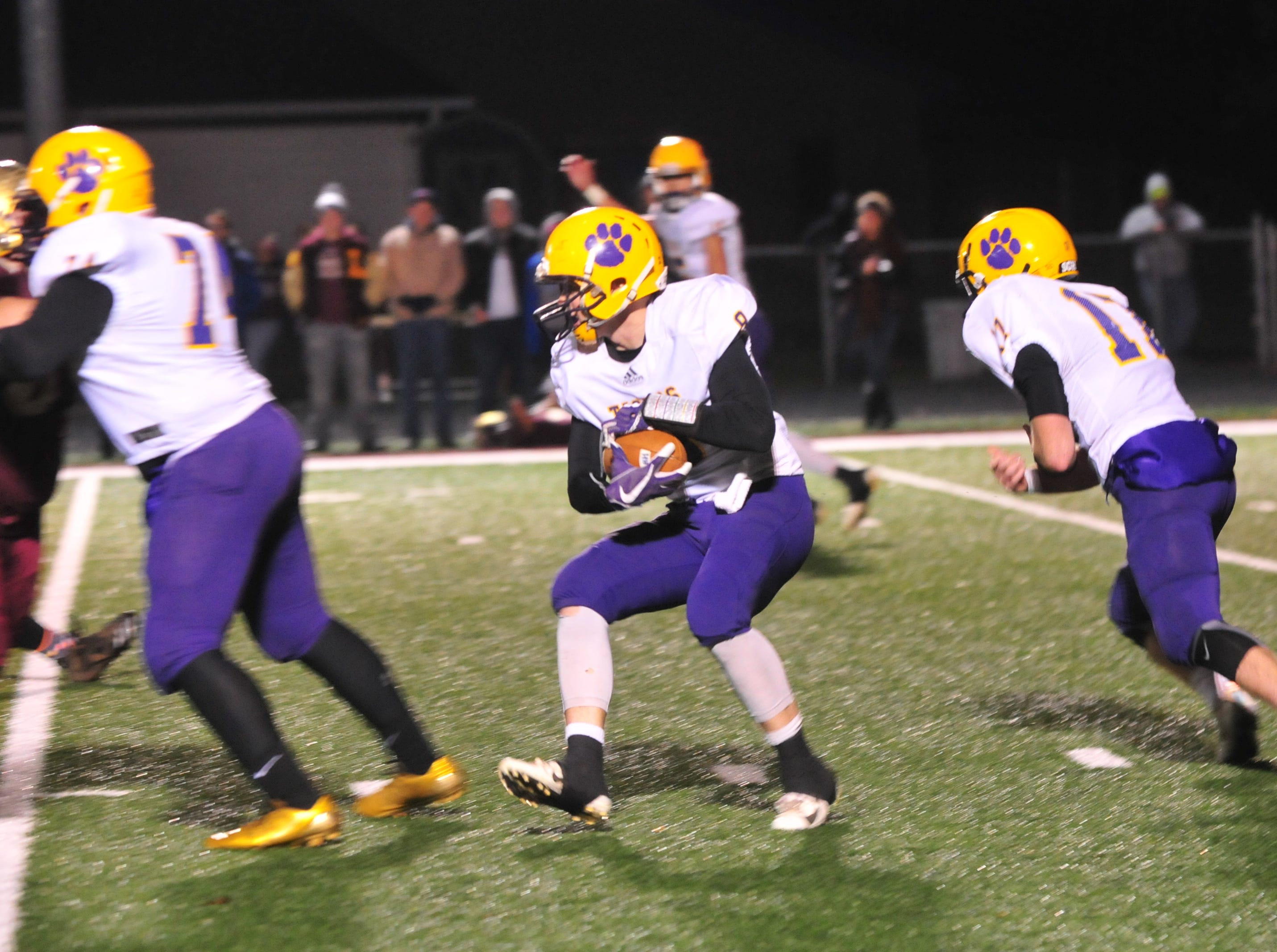 Hagerstown fell to Lutheran 32-13 in the IHSAA Class A Sectional 46 championship game Friday, Nov. 2, 2018.