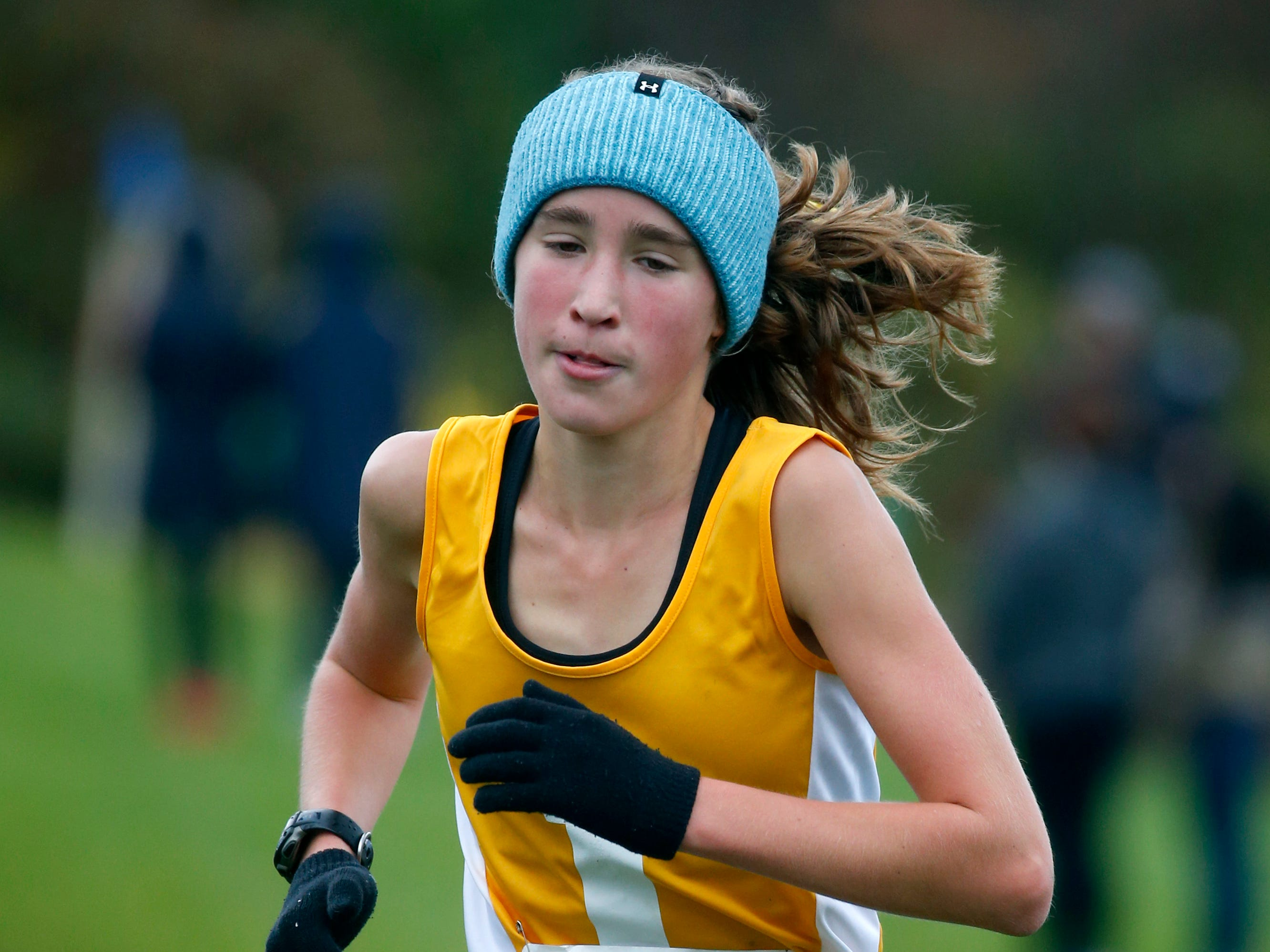 Girls Class A: Irondequoit's Candace Tytler finished second with a time of 19:32.2 during the Section V Cross Country meet at Midlakes High School.