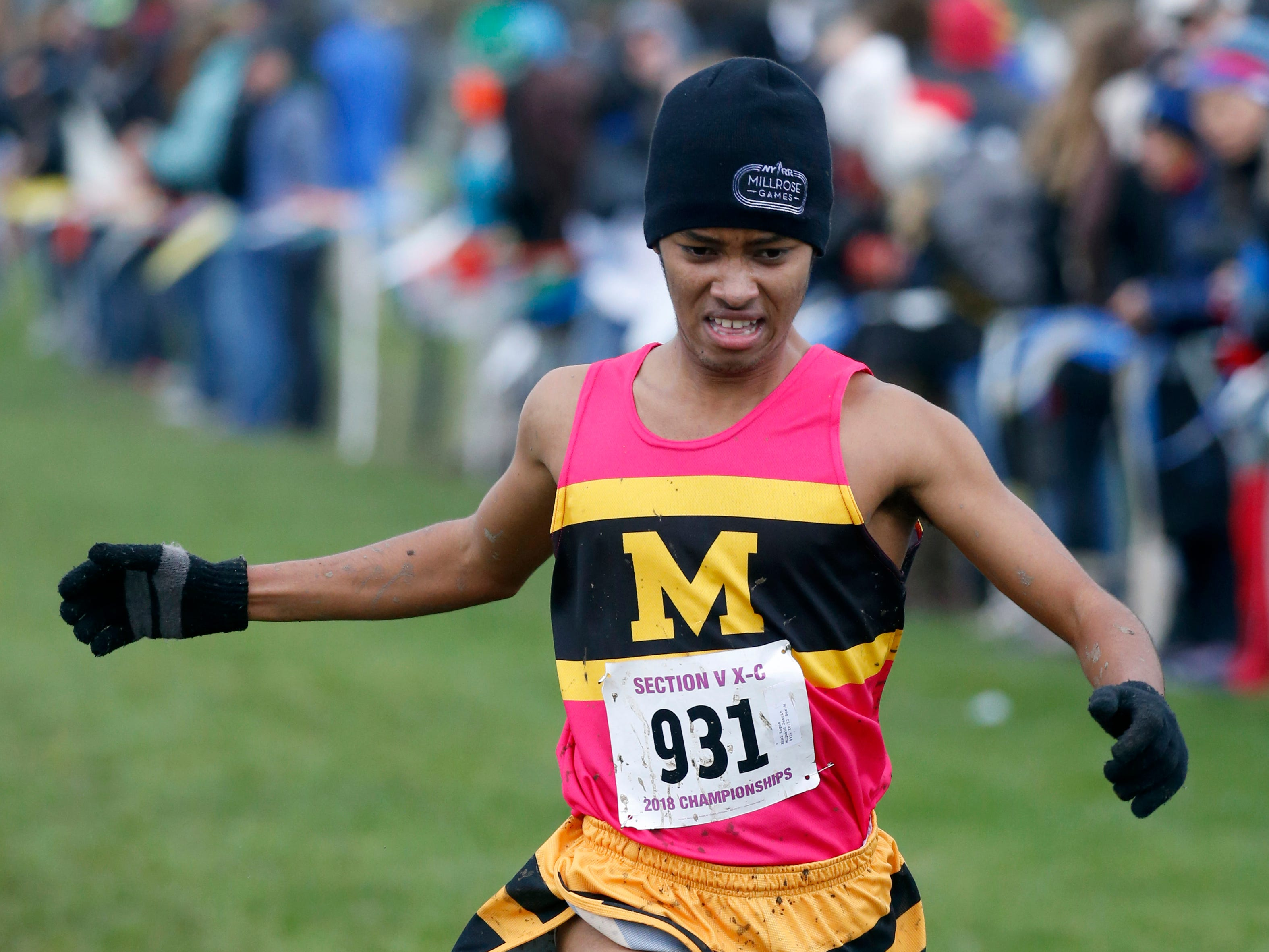 Boys Class A: The winner was McQuaid Jesuit's Abel Hagos with a time of 16:31.5 during the Section V Cross Country meet at Midlakes High School.