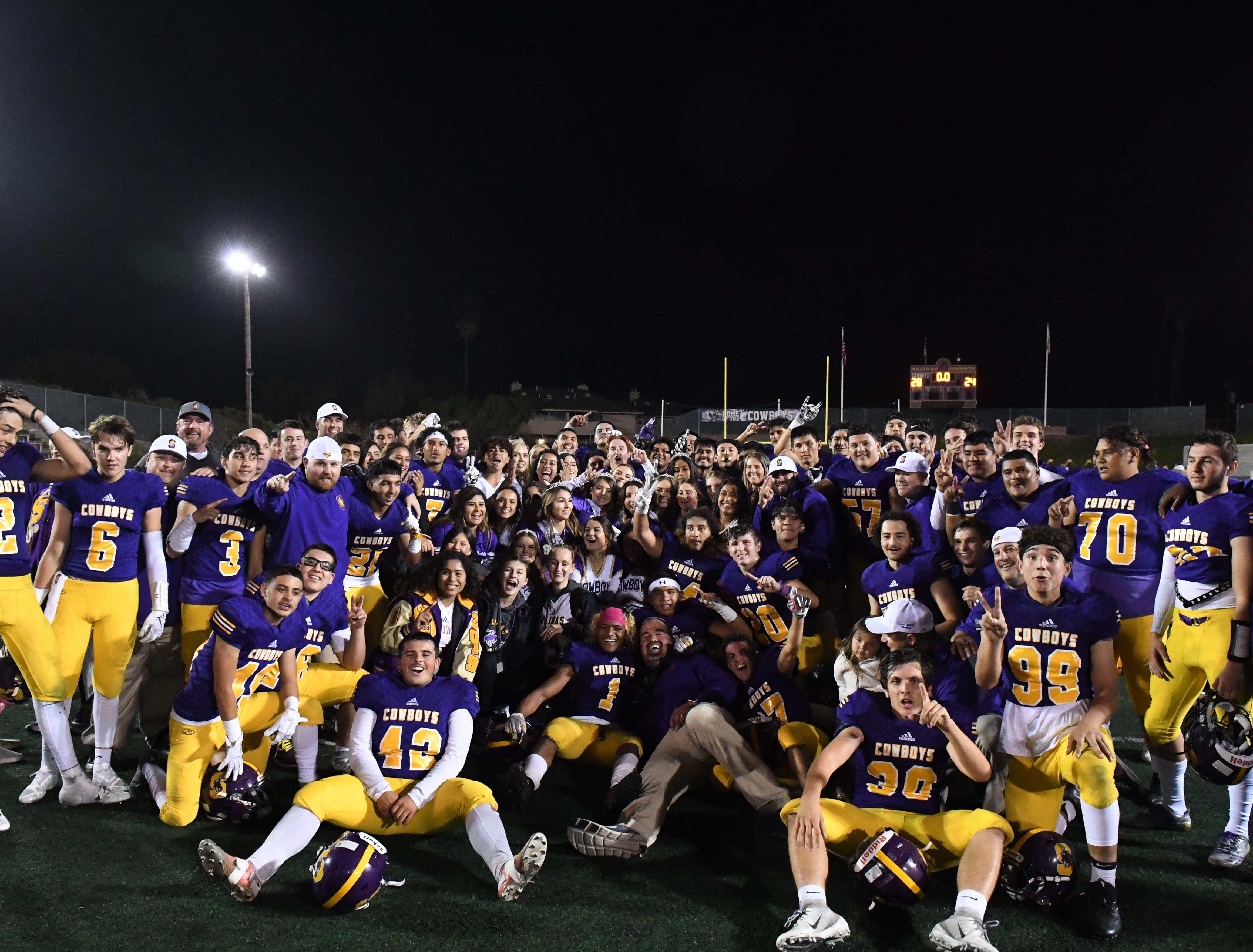 The 2018 Salinas Cowboys football team are PCAL-Gabilan co-champions.