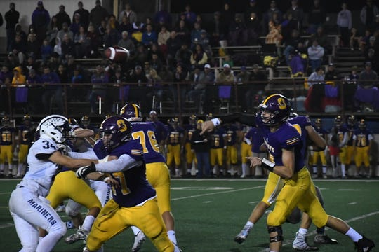 Should Salinas quarterback Carl Richardson (8) have fewer interceptions (3) than he did in the first game against San Benito, the Cowboys will have a great chance to avenge their loss two weeks ago.
