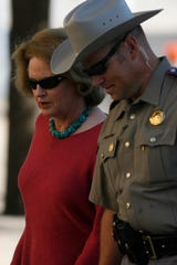 Judge Barbara Walther arrives at the Tom Green County Courthouse Aug. 6, 2011, for the trial of Warren Jeffs, leader of the Fundamentalist Church of Jesus Christ of Latter-Day Saints. Jeffs was found guilty of child sex assault and sentenced to life plus 20 years in prison.