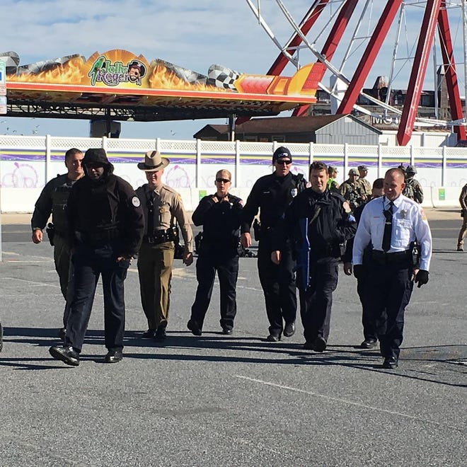 Several state agencies, the Maryland National Guard and Ocean City police worked together for a large-scale training exercise on Saturday, Nov. 3, 2018.