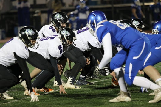 Kimball/White Lake and Garretson battle in a Class 9AA semifinal game on Friday, Nov. 2.
