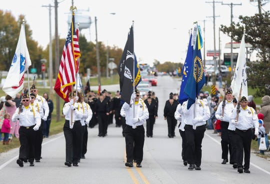 Hundreds of people lined East Jackson Street in Willard for the 2nd Annual Western Greene County Veterans Day Parade on Nov. 3, 2018.