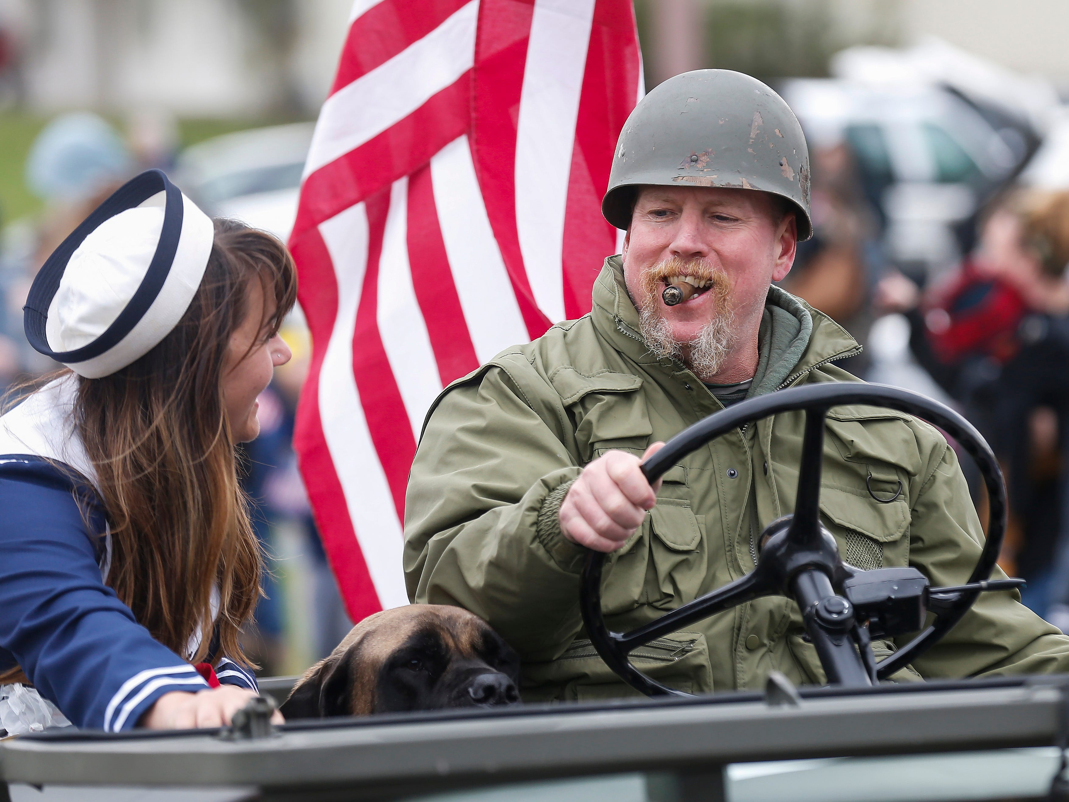 Hundreds of people lined East Jackson Street in Willard for the 2nd Annual Western Greene County Veterans Day Parade on Saturday, Nov. 3, 2018.