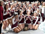 Post Competition … DRAFT WINS STATE! — Stuarts Draft players and head coach Tammy Carter join reporter Tom Jacobs to talk about their second state championship in a row after they won Class 2 in the VHSL state competition cheer championship.